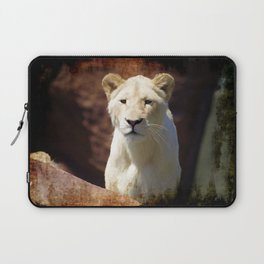 African White Lion Laptop Sleeve