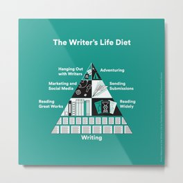 The Writer's Life Diet Metal Print