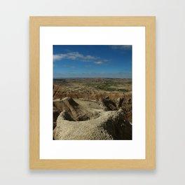 Amazing Badlands Overview Framed Art Print