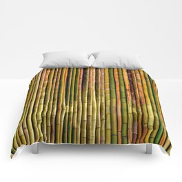 Bamboo fence, texture Comforters