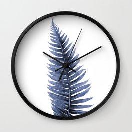 Blue plant Wall Clock