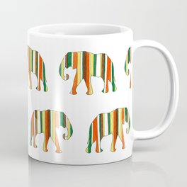 Watercolor retro elephant Coffee Mug
