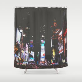 Evening Glow - Times Square Shower Curtain