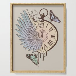 Le Temps Passe Vite (Time Flies) Serving Tray