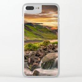 Tryfan and Llyn Ogwen Snowdonia Clear iPhone Case