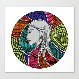 Geometric Girl Canvas Print