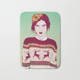 Sweater Weather Lady Bath Mat