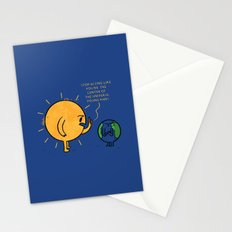 You Are Not The Center Of The Universe, Young Man ! Stationery Cards