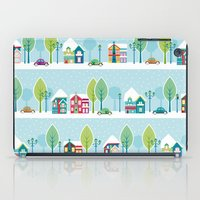 house iPad Cases featuring Ski house by Polkip