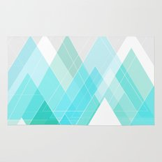 Icy Grey Mountains Rug