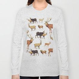 Deers Pattern Long Sleeve T-shirt
