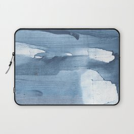 Gray Blue streaked wash drawing painting Laptop Sleeve