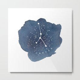 cancer constellation zodiac Metal Print