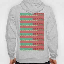 Tiny Block Houses All in a Row Hoody