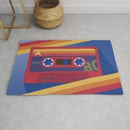 80s Retro Tape Deck Rug