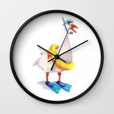 Snorkeling Goose Wall Clock