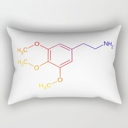 Peyote Mescaline Molecule - lophophora williamsii Rectangular Pillow