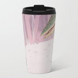 Drummer Bird Meets Croc Travel Mug