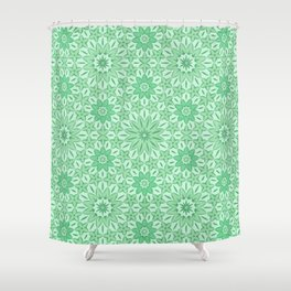 Rings of Flowers - Color: Mint Julep Shower Curtain