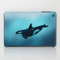 biology iPad Cases featuring Lost in Serenity ~ Orca ~ Killer Whale by Amber Marine