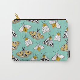 MAGIC MOTHS on Turquoise Carry-All Pouch
