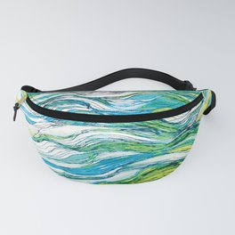 The ocean  waves1 Fanny Pack
