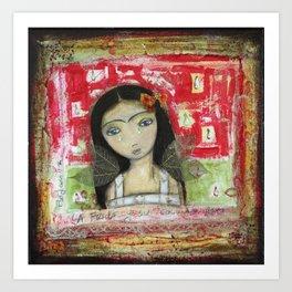 La Frida y su Columna Rota by Flor Larios Art Print