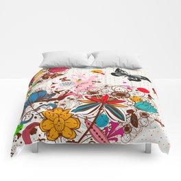 Buttlerflies and Flowers Comforters