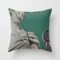 dragon ball Throw Pillows featuring Ball by arantzazugcalderon