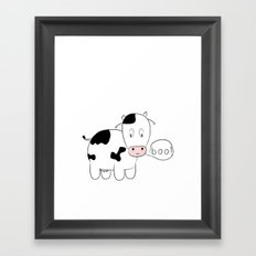SOLD! Scary Cow - Inspired by a True Incident! Framed Art Print