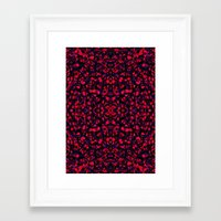 crystals Framed Art Prints featuring Crystals  by Claudia Owen