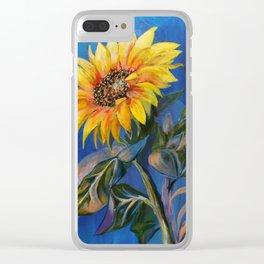 Sun Daisy Clear iPhone Case