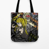 death note Tote Bags featuring Death Note by SpontaneousOD