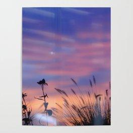 LOOK OUTSIDE - Flowers & Sunset #1 #art #society6 Poster