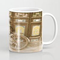 bicycle Mugs featuring Bicycle by Gurevich Fine Art