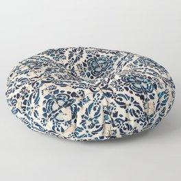 Azulejo IX - Portuguese hand painted tiles Floor Pillow