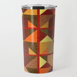 Colored abstraction in geometry Travel Mug