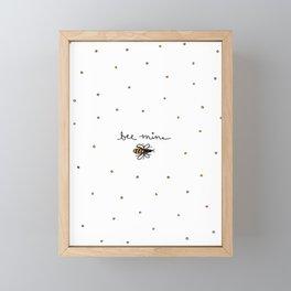 Bee Mine Framed Mini Art Print