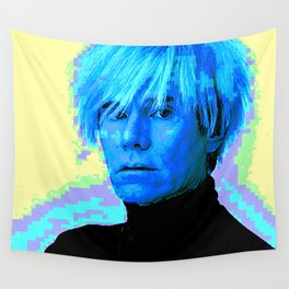 Portrait of an Artist -  Andy W-a-r-h-o-l Wall Tapestry