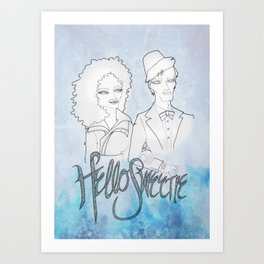 The Doctor & River Art Print