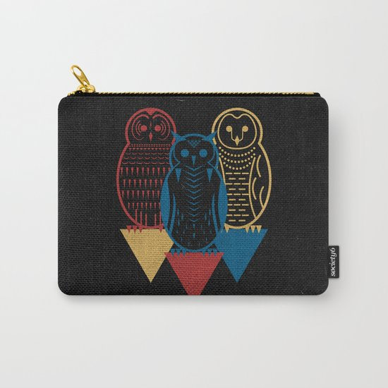 Three Owls at Night Carry-All Pouch