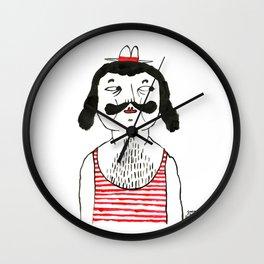 Gentleman Looking Sideways Wall Clock