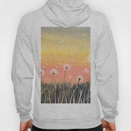 Up, Up and Away - Dandelion Watercolor Hoody