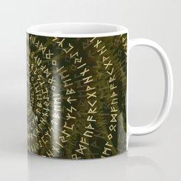 Elder Futhark Spiral Art Coffee Mug