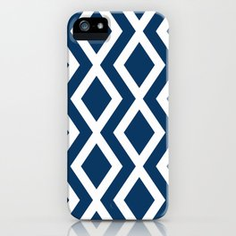 Navy Diamond iPhone Case