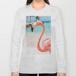 Single Flamingo Long Sleeve T-shirt