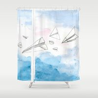 engineer Shower Curtains featuring The Dreaming Engineer IIIa by Vivian TAN Ai Hua