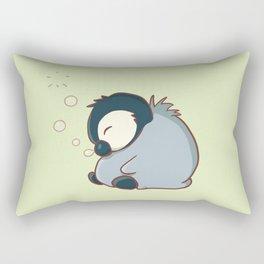 Sleepy baby penguin Rectangular Pillow