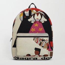 Nuoro Sardinia vintage Italian travel ad Backpack