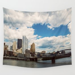 Hearts Over Pittsburgh Wall Tapestry